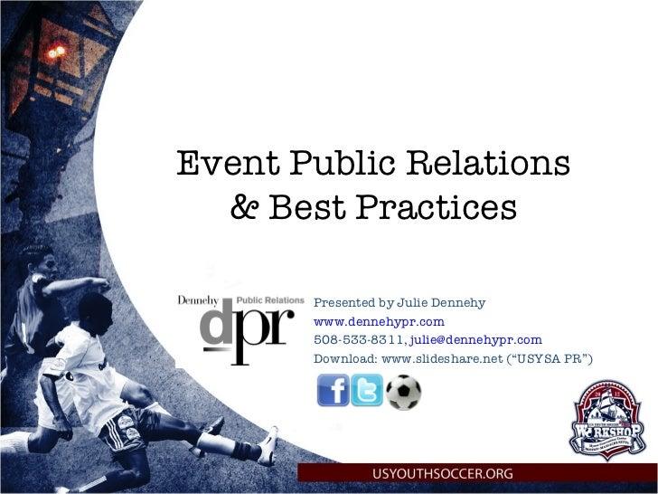 US Youth Soccer Association - Event PR presentation