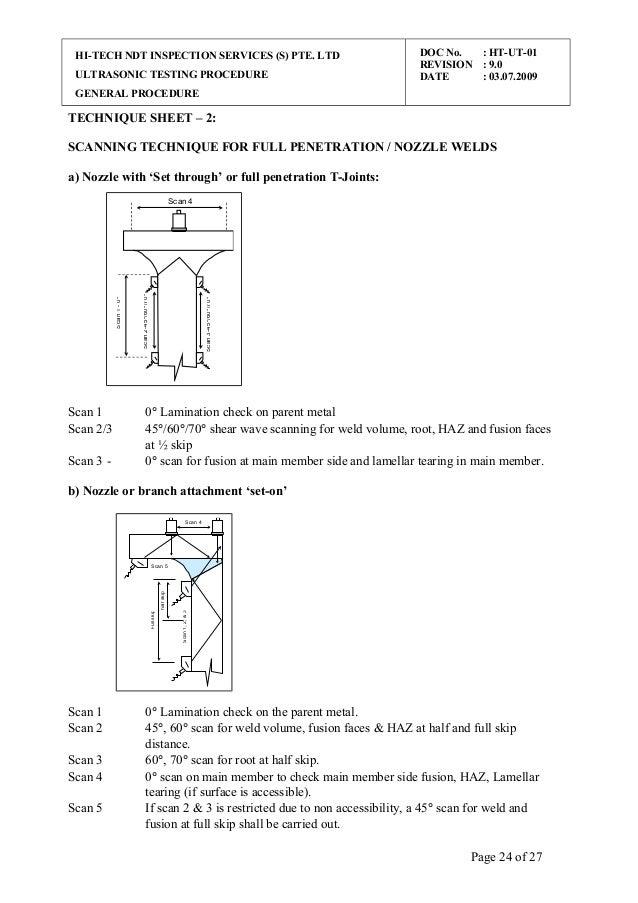 Ut procedure general