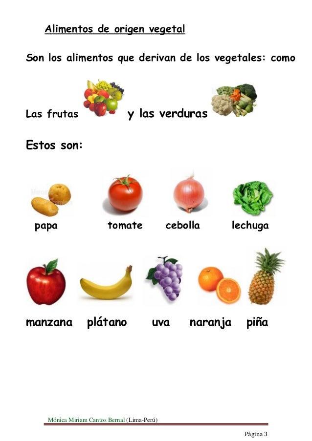 Alimentos - Verduras lista de nombres ...