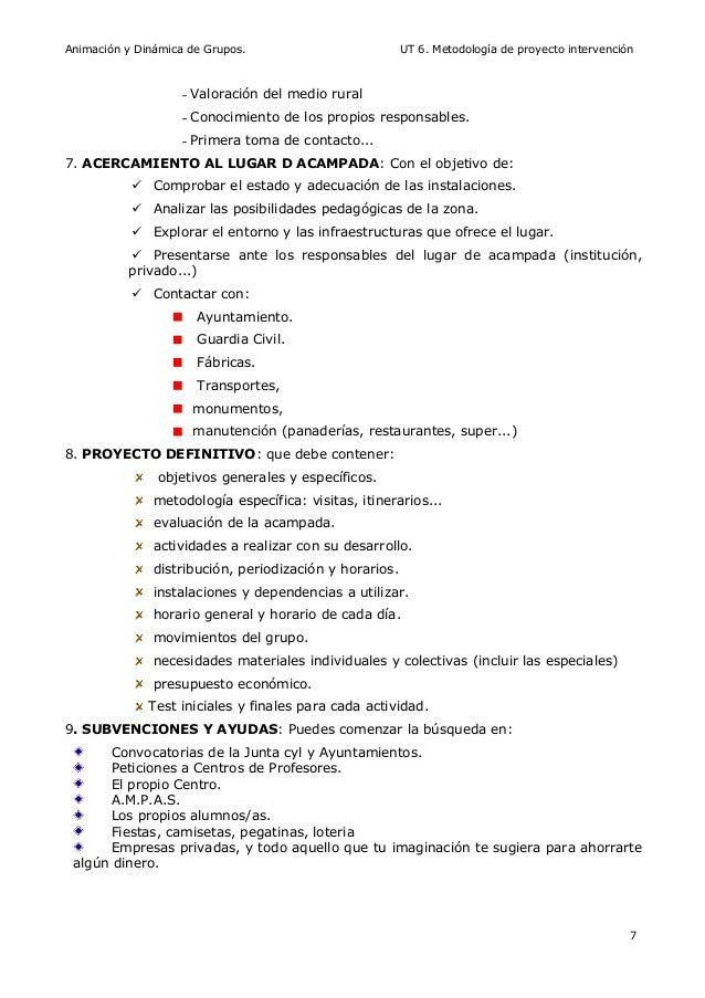 UT 6. Metodología Proyecto Intervención
