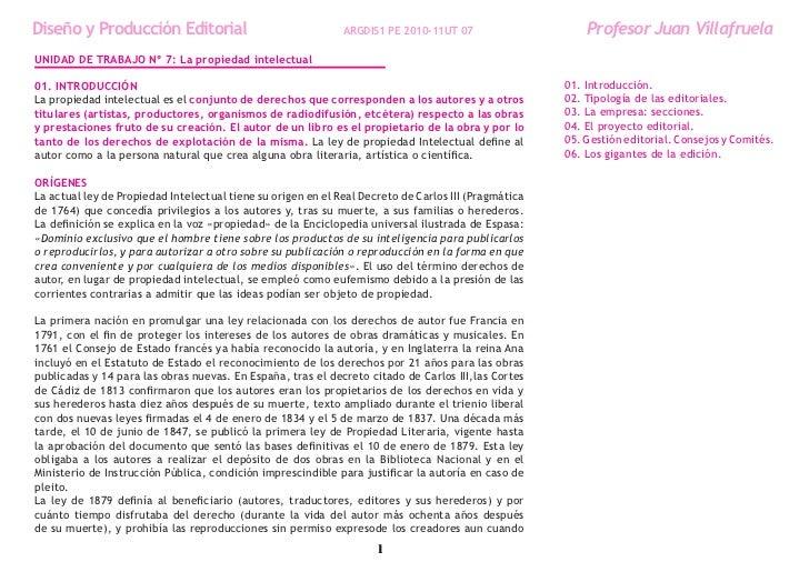 Diseño y Producción Editorial                                 ARGDIS1 PE 2010-11UT 07                     Profesor Juan Vi...