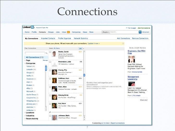 Social Network Analysis at LinkedIn