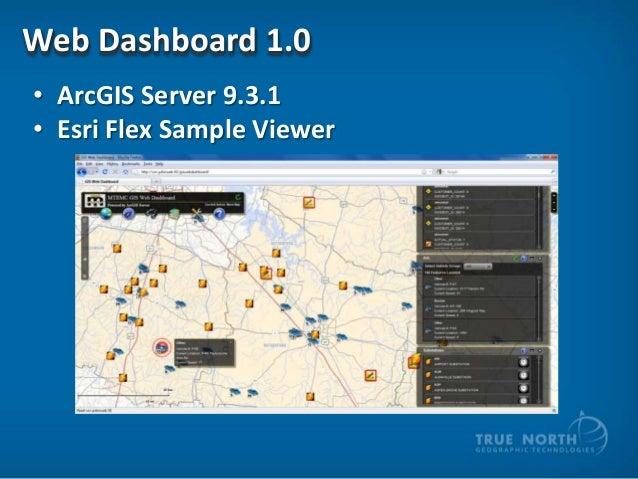 Web Dashboard 1.0 • ArcGIS Server 9.3.1 • Esri Flex Sample Viewer