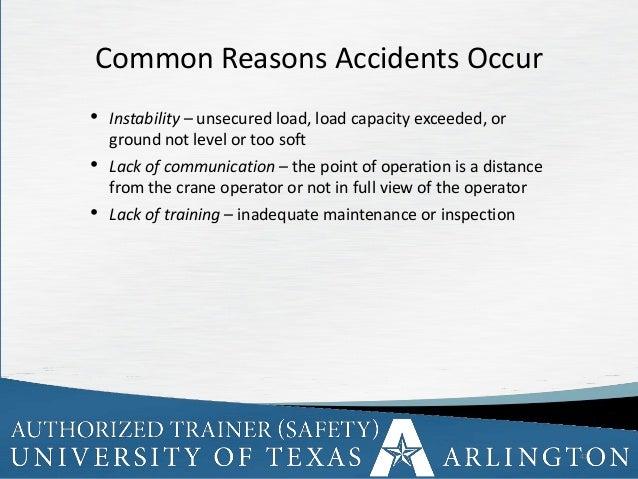 Crane Safety Awareness by University of Texas Arlington