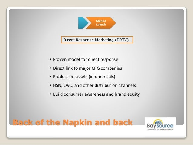 Launching a New Product - Back of the Napkin and Back Slide 15