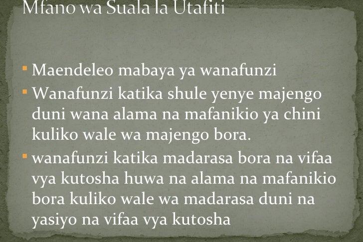  Maendeleo mabaya ya wanafunzi Wanafunzi katika shule yenye majengo  duni wana alama na mafanikio ya chini  kuliko wale ...