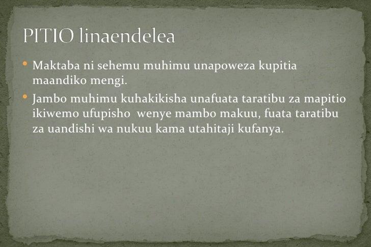  Maktaba ni sehemu muhimu unapoweza kupitia  maandiko mengi. Jambo muhimu kuhakikisha unafuata taratibu za mapitio  ikiw...