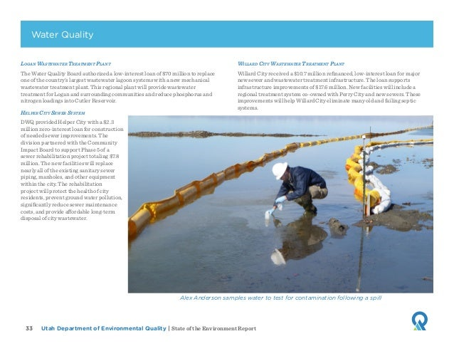 Utah Department of Environmental Quality   State of the Environment Report33 Logan Wastewater Treatment Plant The Water Qu...