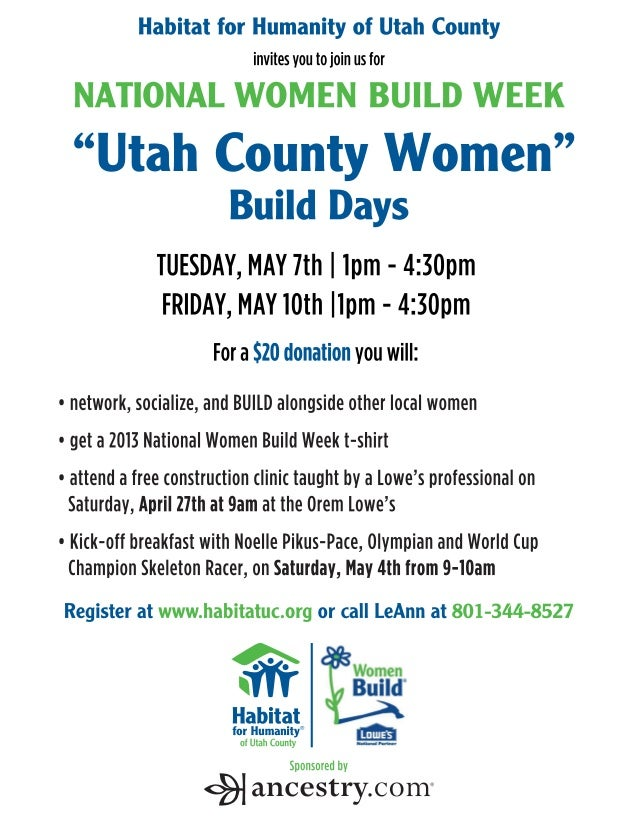 Utah County Women Build Day