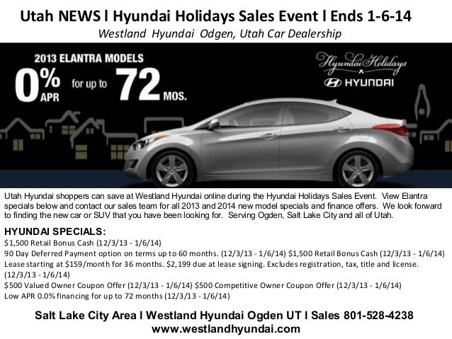 Car Dealerships In Utah >> Utah News L Hyundai Holidays Sales Event L Ends 1 6 14 L