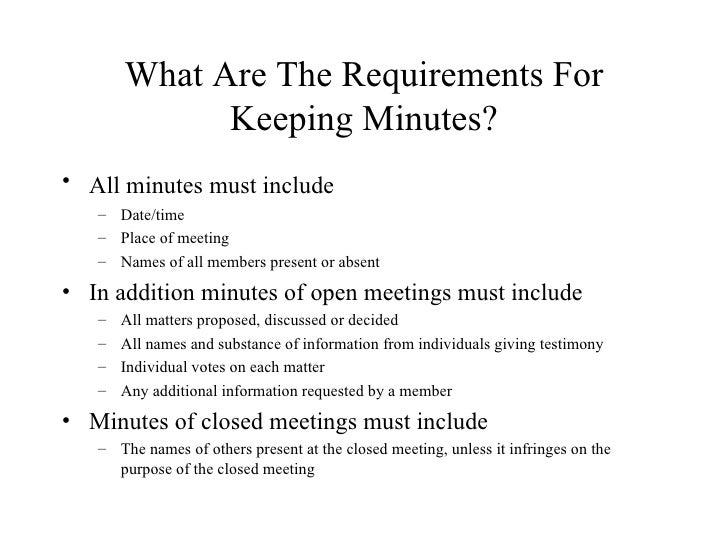 keeping minutes thevillas co
