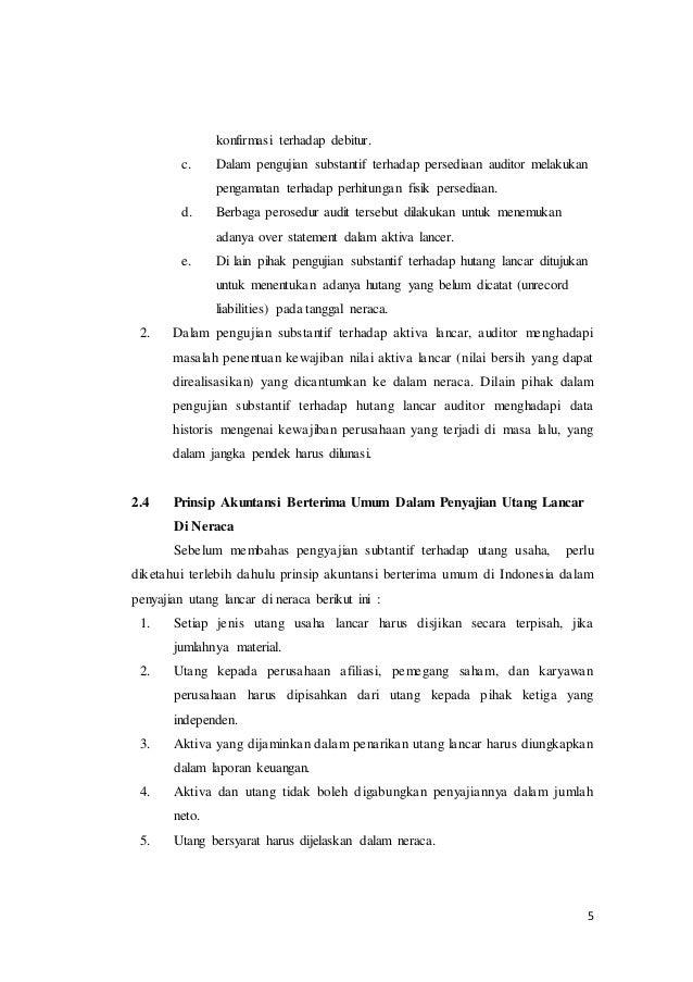 Audit Terhadap Siklus Pengeluaran Pengujian Substantif Terhadap Sal