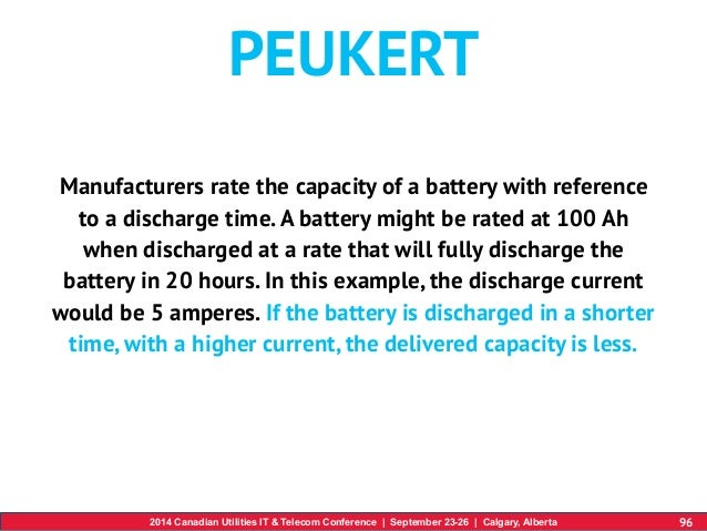 Peukert S Law : Utcc battery backup workshop dakx turcotte