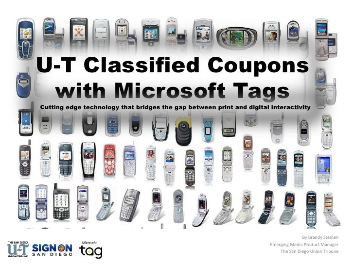 U-T Classified Coupons with Microsoft Tags<br />Cutting edge technology that bridges the gap between print and digital int...