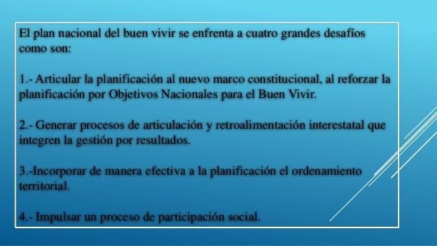 Ute  del proceso de construcción del plan nacional para el buen vivir Slide 2
