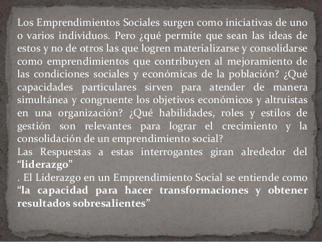 Ute el liderazgo de los emprendimientos sociales Slide 2