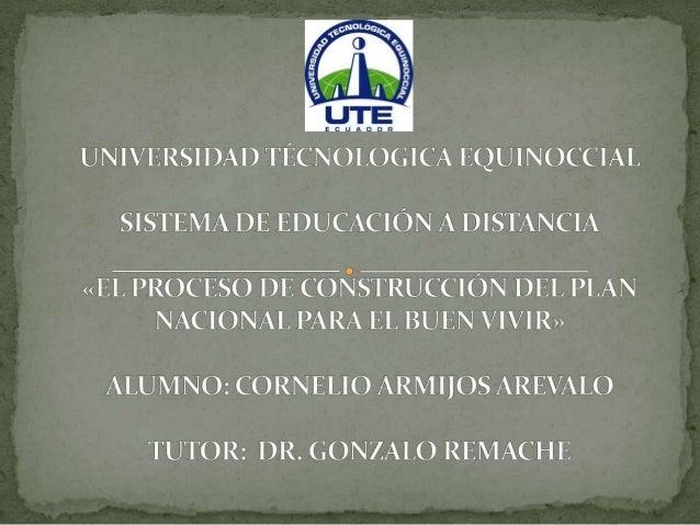 La elaboración del Plan Nacional para el Buen Vivirsupuso enfrentar cuatro grandes desafíos:1. Articular la planificación ...