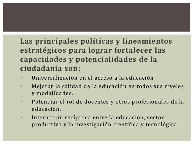 UTE MF Ordoñez Fortalecimiento de capacidades y potencialidades de la ciudadanía Slide 2