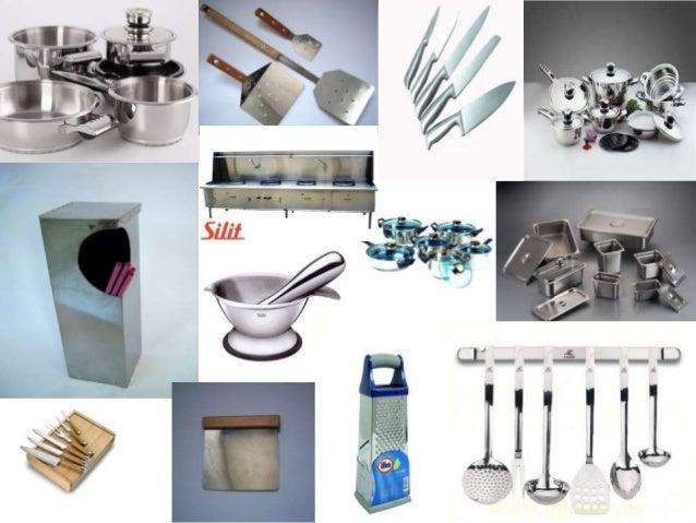 utencilios de cocina con acero inoxidable collage
