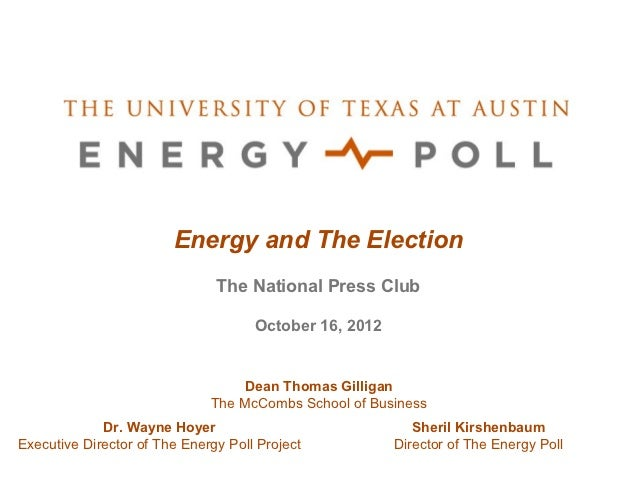 Energy and The Election                               The National Press Club                                     October ...