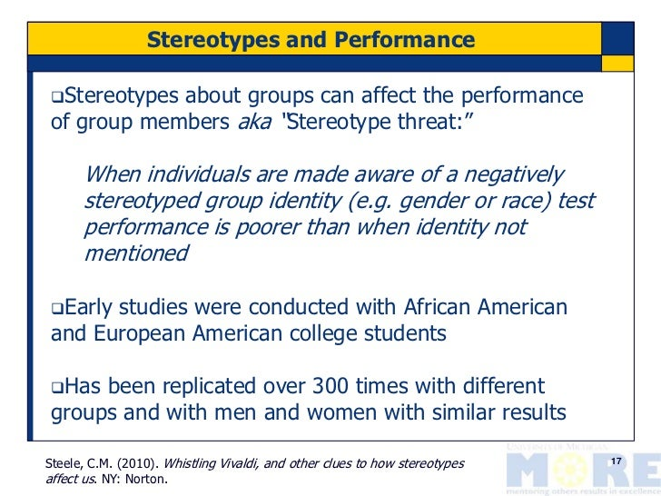 The Impact of Stereotypes on African-American Females