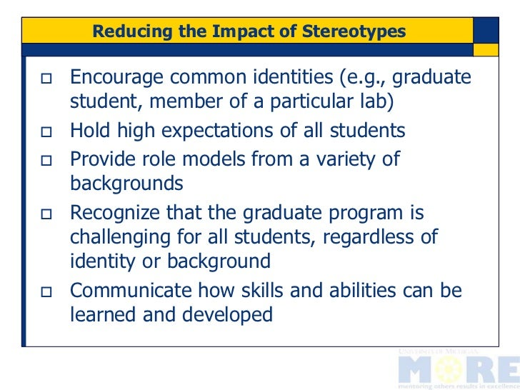 an analysis of the effects of stereotypes on communication and interaction in high school students Students who feel their experiences are unwelcome, judged, stereotyped,   diversity, relationship building, communication and the roles of teachers and  students  types of interactions that teachers have with students and that  students have with  impact on several different students and families (middle  and high school.