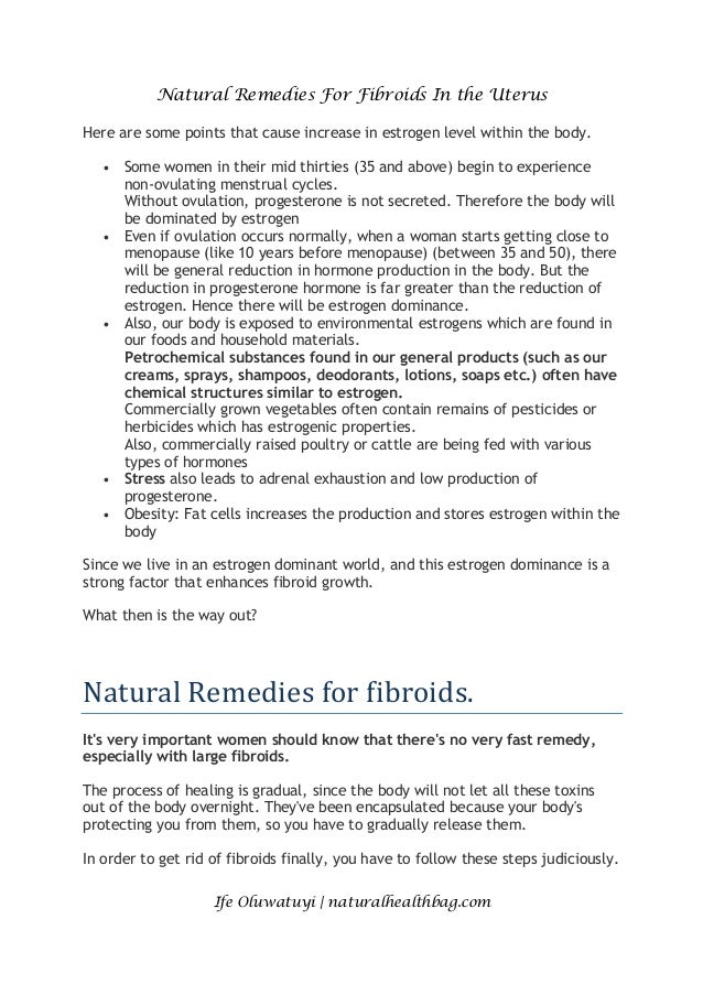 How to Shrink Fibroids Naturally