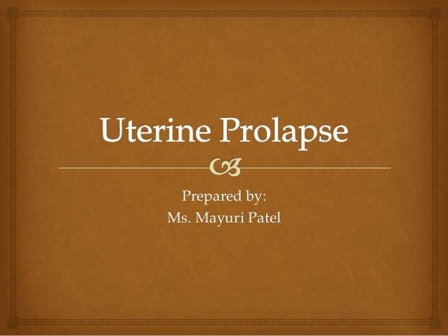 Prepared by: Ms. Mayuri Patel