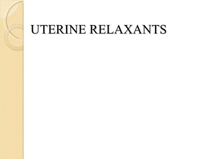 relaxation uterus