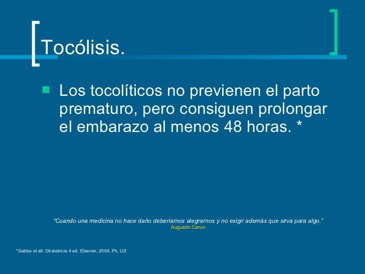 Tocolisis Slide 3
