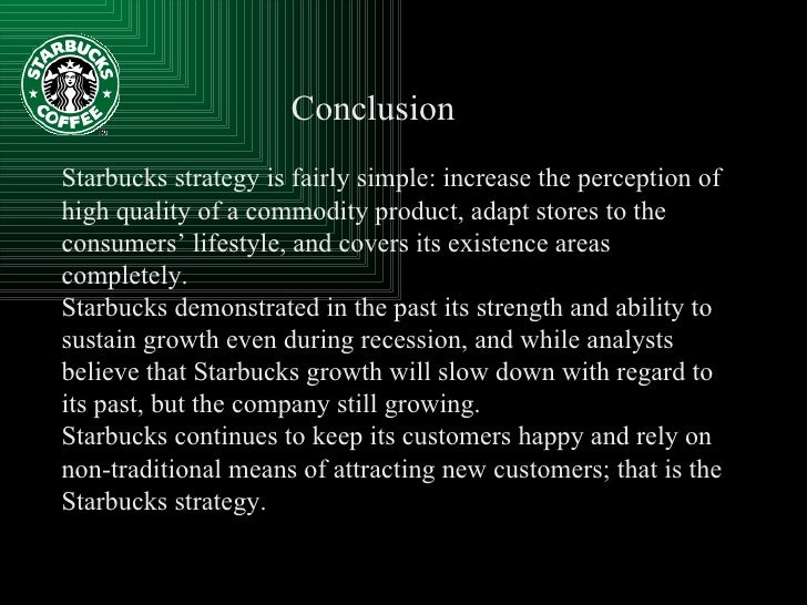 starbucks strategy and internal initiatives to Introduction to internal analysis  starbucks strategy is to reach customers initiatives related to the starbucks's core businesses.