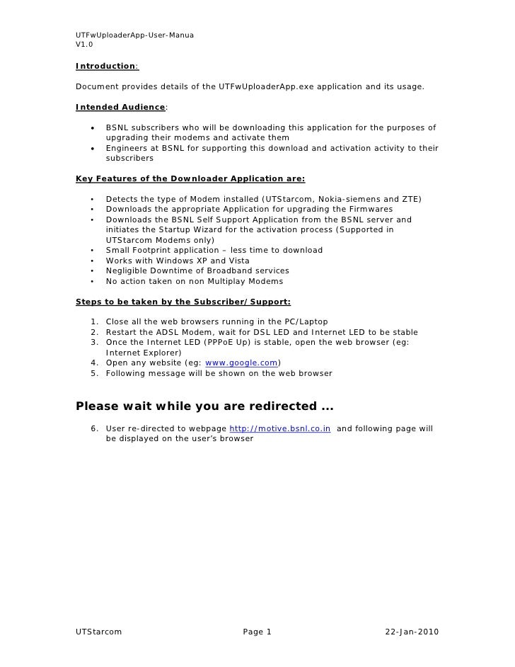 UTFwUploaderApp-User-Manua V1.0  Introduction:  Document provides details of the UTFwUploaderApp.exe application and its u...