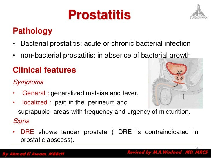 prostatitis and discharge
