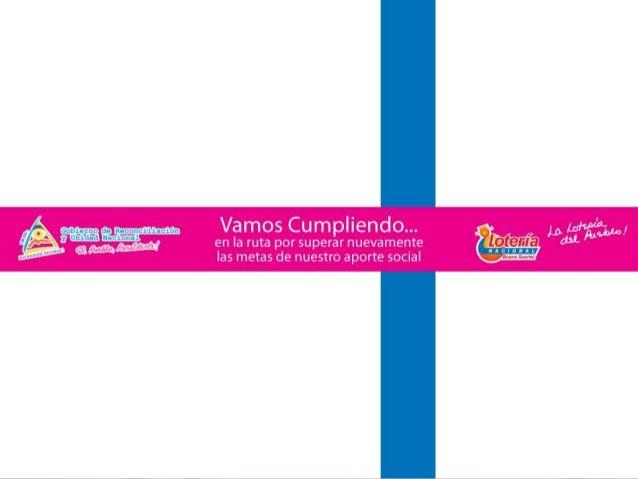En el año 2006 los aportes de Lotería Nacional fueron por el orden de los 12 Millones de Córdobas. De Enero a Agosto 2010 ...