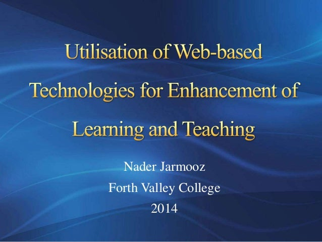 Nader Jarmooz Forth Valley College 2014