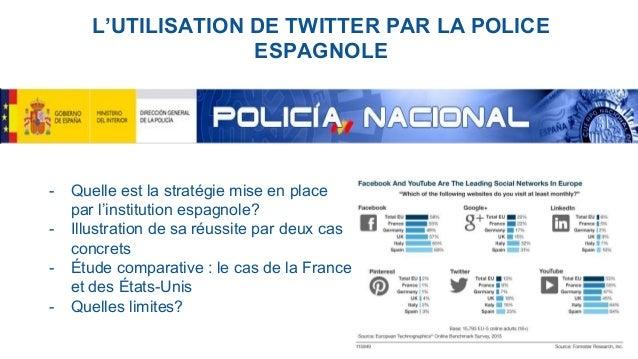 L'UTILISATION DE TWITTER PAR LA POLICE ESPAGNOLE - Quelle est la stratégie mise en place par l'institution espagnole? - Il...