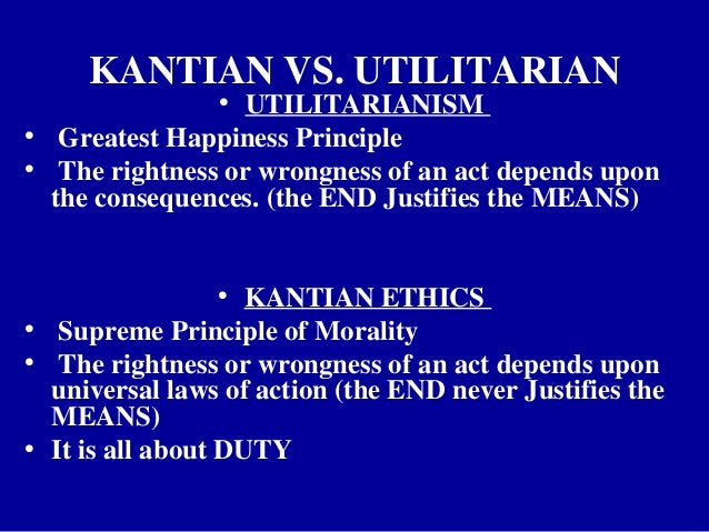 euthanasia kantianism vs utilitarianism Peter albert david singer, ac (born 6 july 1946) is an australian moral  philosopher he is the  for most of his career, he was a preference utilitarian,  but he announced in the point of view of the  singer regards kantian  universalisation as unjust to animals  voluntary euthanasia is that to which the  subject consents.