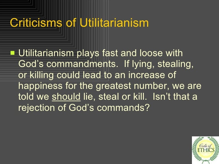 utilitarianism 20 criticisms of utilitarianism