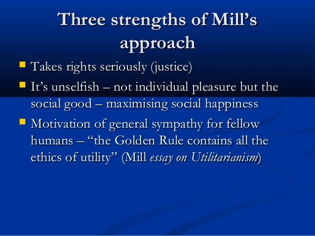 an analysis of the utilitarian principle by john stuart mill Start studying ch 5 utilitarianism & john stuart mill  principle of utilitary explained by john mill  cost-benefit analysis is one popular version of.
