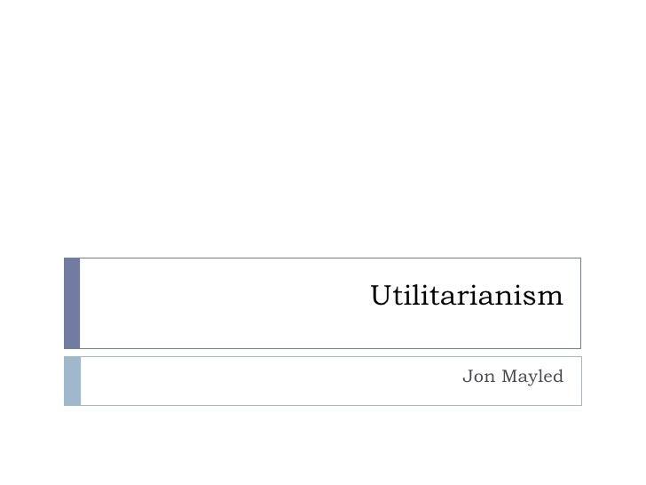 Williams and utilitarianism