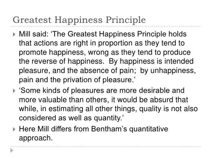 greatest happiness principle