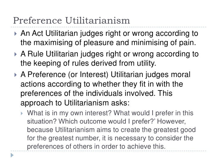 the act of utilitarianism Act utilitarianism the theory of utilitarianism was first developed by jeremy bentham who was a philosopher of the 18th century bentham developed this theory to create a modern and rational approach to morality which would suit the changing society.