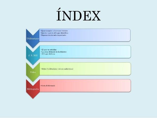 L' UTILITARISME Slide 2