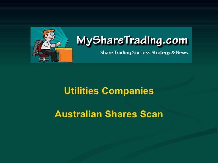 Utilities Companies Australian Shares Scan