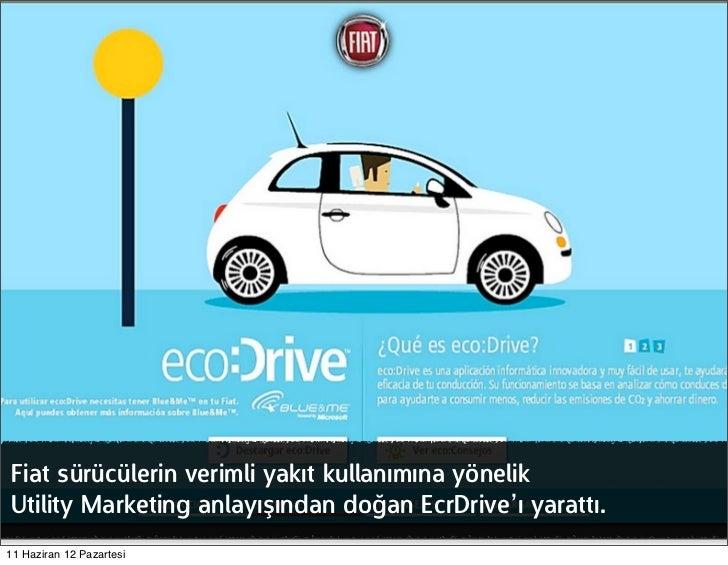 Fiat sürücülerin verimli yakıt kullanımına yönelikUtility Marketing anlayışından doğan EcrDrive'ı yarattı.11 Haziran 12 Pa...