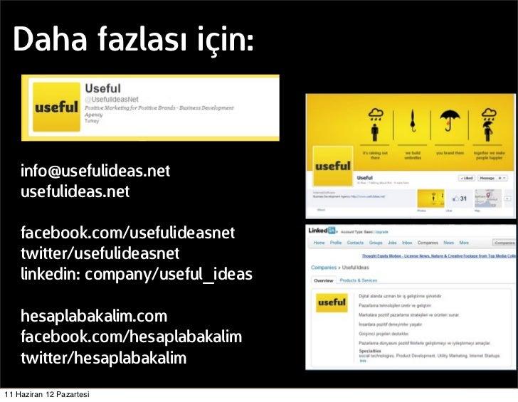 Daha fazlası için:    info@usefulideas.net    usefulideas.net    facebook.com/usefulideasnet    twitter/usefulideasnet    ...