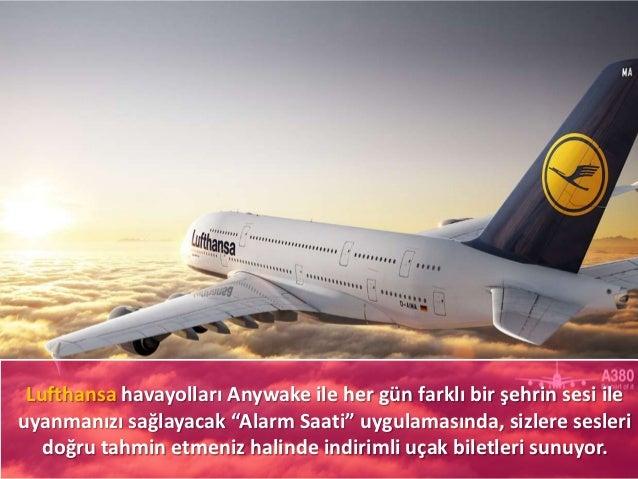 """Lufthansa havayolları Anywake ile her gün farklı bir şehrin sesi ileuyanmanızı sağlayacak """"Alarm Saati"""" uygulamasında, siz..."""