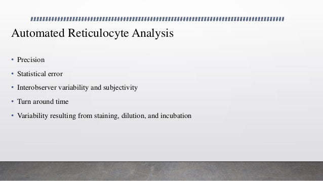 Utility of reticulocyte parameters