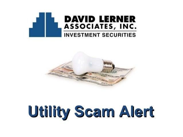 Utility Scam Alert