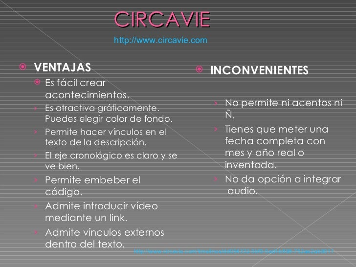 CIRCAVIE http :// www.circavie.com <ul><li>VENTAJAS </li></ul><ul><ul><li>Es fácil crear acontecimientos. </li></ul></ul><...